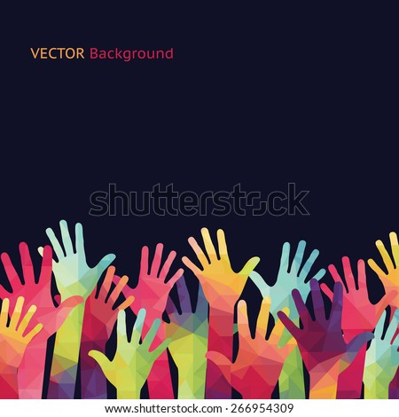 vector background colorful up
