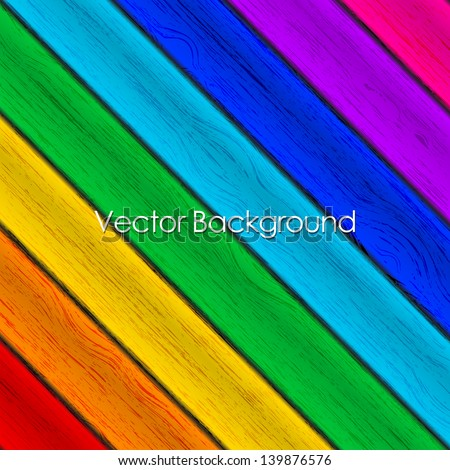 Vector background - colorful wood texture