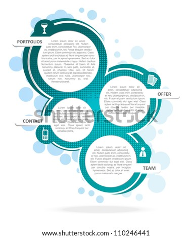 Vector background concept design for brochure or website
