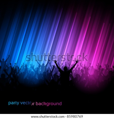 vector background   dancing
