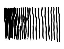 vector background design, hand-drawn vertical stripes, messy textured lines, can be changed to any color and placed in any color. black lines from mixed side by side to sparse with space between them
