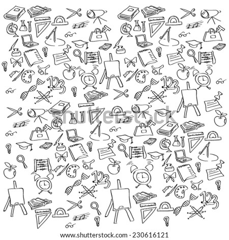 vector background  education  icons