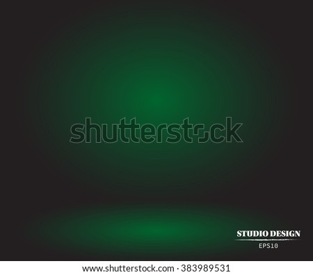 stock-vector-vector-background-empty-green-with-black-vignette-studio-well-use-as-background