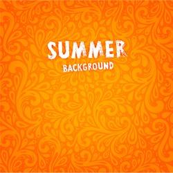 Vector Background. Floral Pattern, Wallpaper with Flowers. Vintage Background. Summer Orange Design