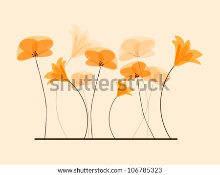 vector background flowers