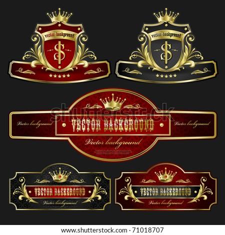 stock-vector-vector-background-for-design-golden-royal-design-element ...