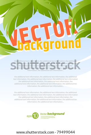 Vector background for design on a summer holiday theme