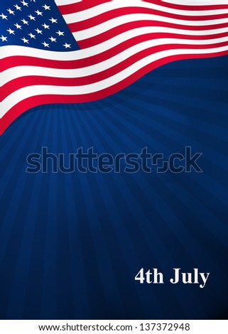 Vector background for Independence Day and other events