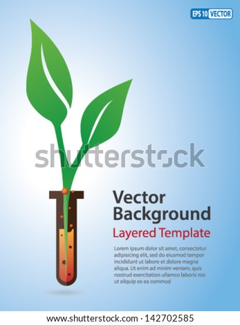 vector background   green leaf