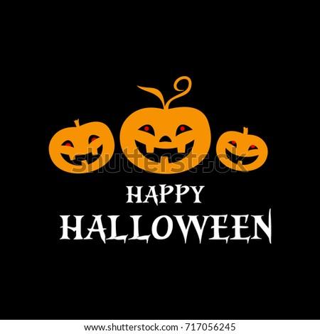 Vector background. Happy Halloween. Pumpkin.