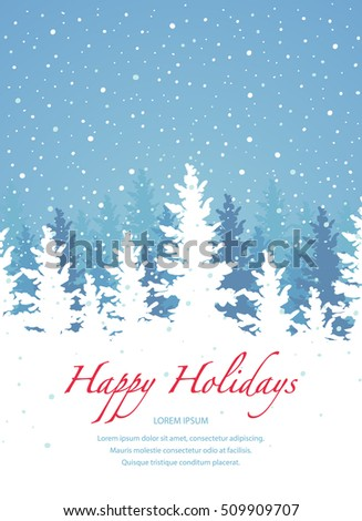 Vector background, Happy Holidays banner template.