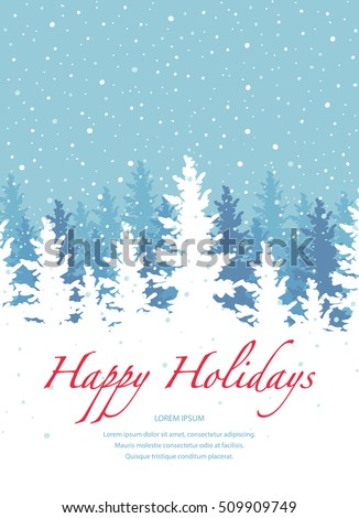 Stock Photo Vector background, Happy Holidays banner template.