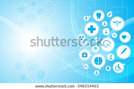 vector background health care concept medical innovation design