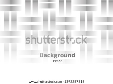 Vector background illustration Abstract geometric shapes, squares and chasing black and white #1392287318