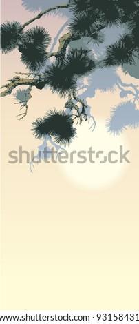 vector background in oriental