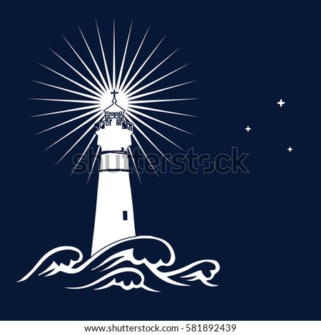 vector background lighthouse