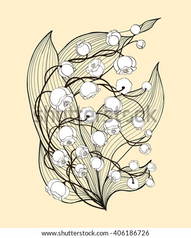 vector background . lilies of...