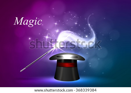 Vector background magic Glow, the concept of magic.