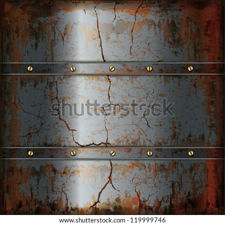 vector background metal rusty texture