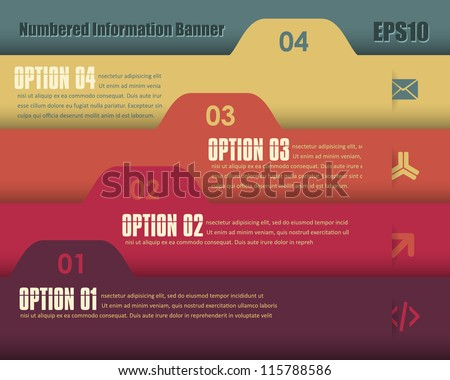Vector Background Number Options Banner & Card