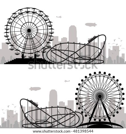vector background of a city and