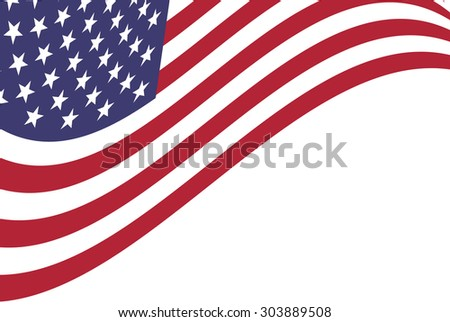 Vector background of American flag #303889508