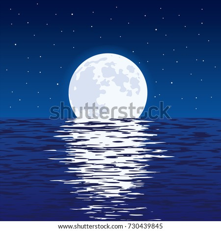 vector background of blue sea