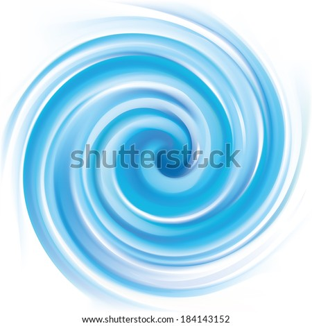 Vector background of blue swirling water texture