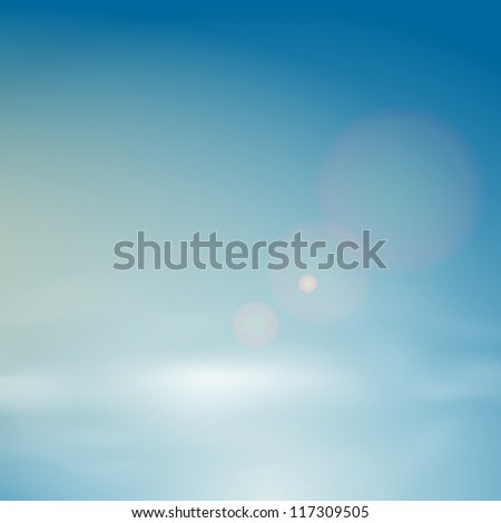 Vector background of clear blue sky. Includes transparencies.