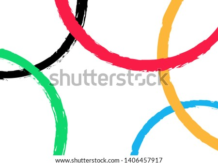 vector background of colored rounds, template design with colorful grunge olympic circles concept. Vector illustration isolated or white background