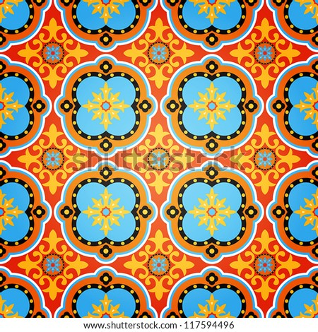 Vector Background of Colorful Decorative Seamless Pattern