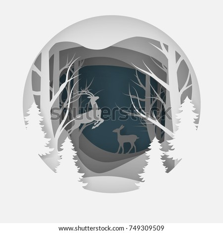 vector background of cut paper