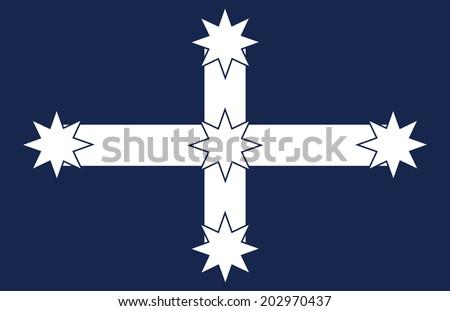 vector background of eureka flag