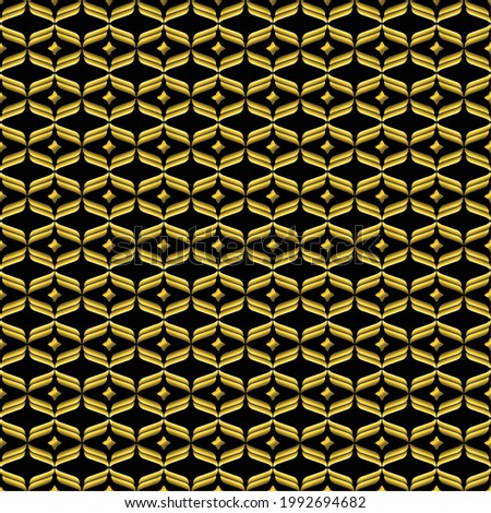 vector background of gold batik. Perfect for wallpapers, design backgrounds, textures, etc. 100% editable.