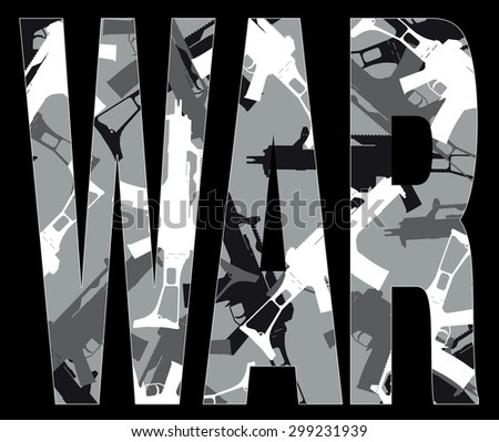 vector background of guns 10