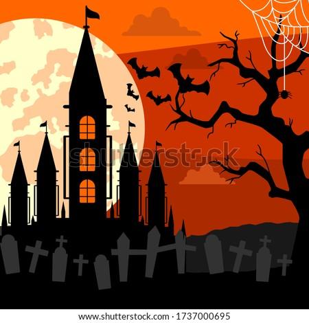 vector background of hallowen's