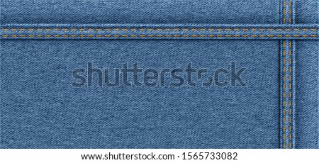 Vector background of light blue grunge denim jeans texture Jeans pattern fabric Close up clothing jacket pants casual clothes trousers shop shopping detail details outfit linen textile banner day