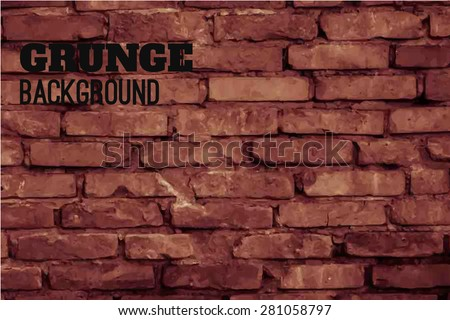 vector  background of old brick