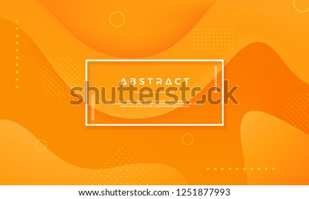 Vector background of Orange Yellow Circle. Abstract vector background with 3d style.Dynamic background with the concept of contours.