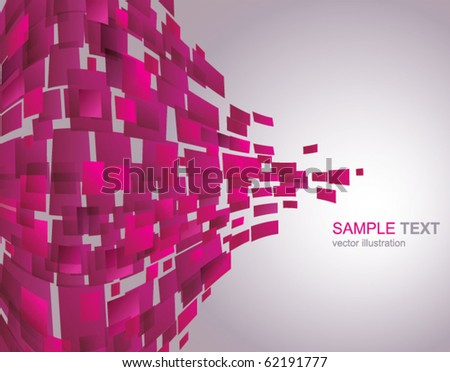Vector Background of Pink Waving mosaic