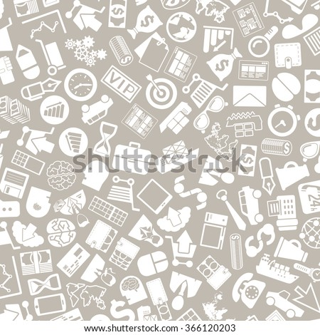 vector background of the business icons