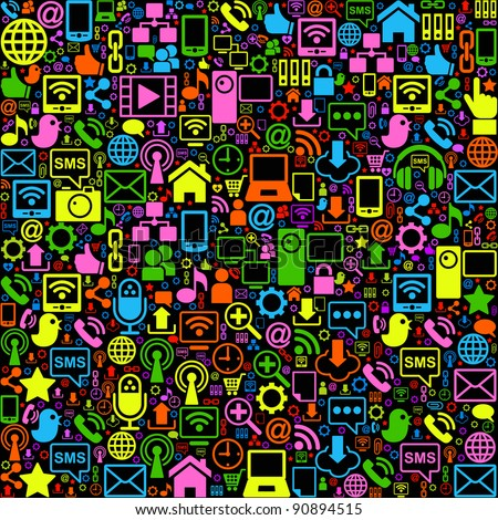 vector background of the icons