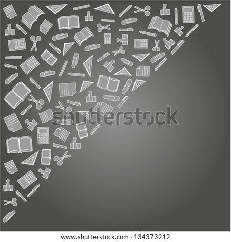 vector background of the icons the education