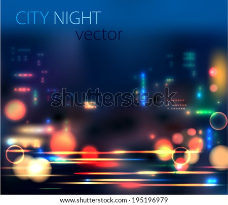 vector background of the night