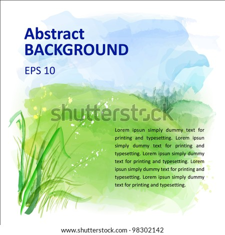 vector background of watercolor