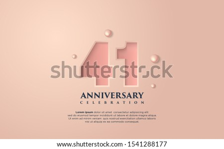 vector background on a 41 year