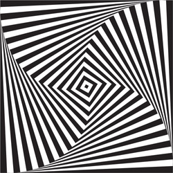 Vector background optical illusion