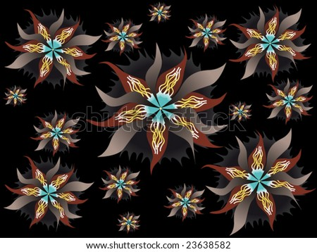 Vector Background Pattern Using In Different Ways - stock vector