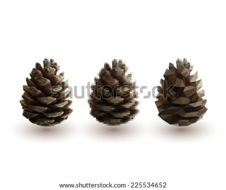 vector background pine cones on