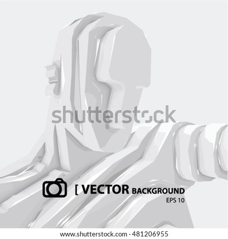 vector  background   sculpture